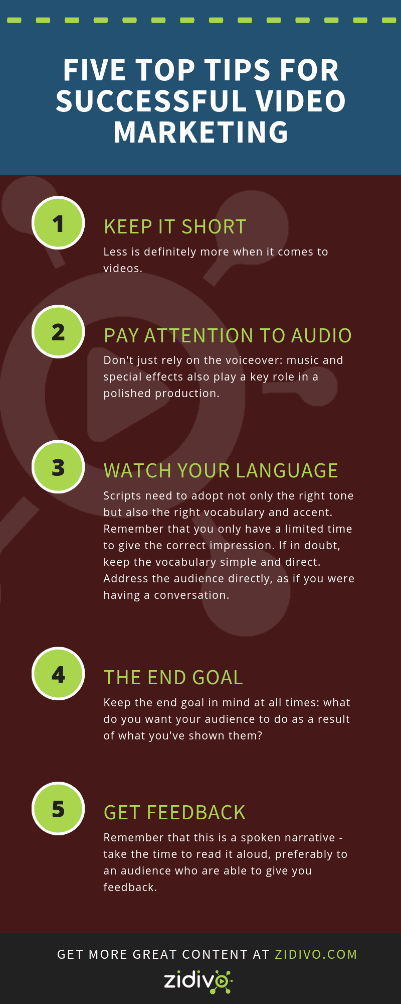 [Infographic] Five Top Tips for Successful Video Marketing