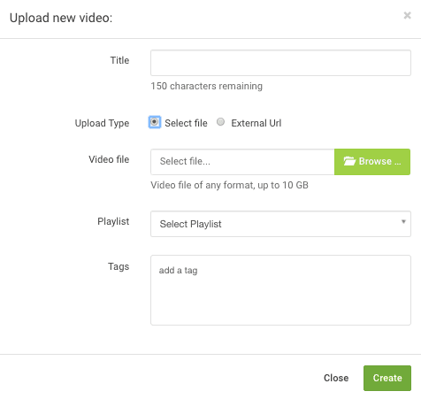 video upload